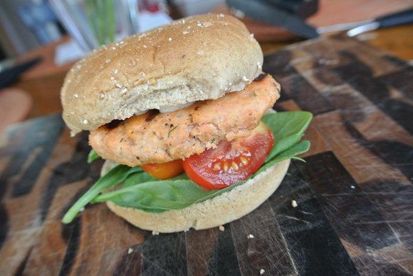 Clean-Eating Smoked Salmon Burgers