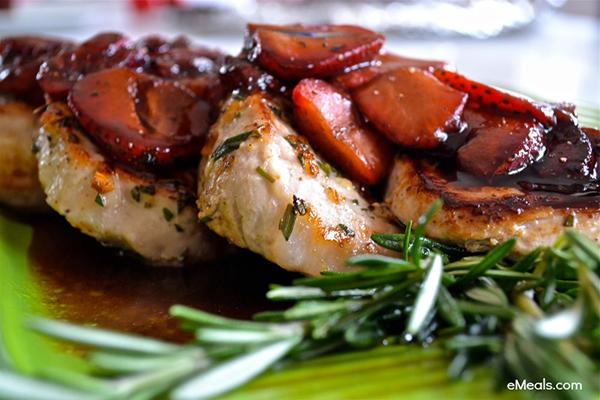Clean Eating Balsamic Strawberry Pork Chops