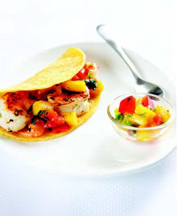 Grilled Cilantro Shrimp Tacos