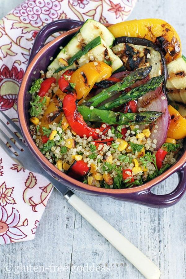 Grilled Veggie Quinoa Salad, Gluten-Free