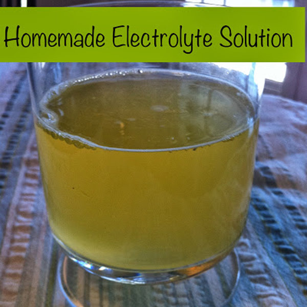 Homemade Electrolyte Solution Recipe