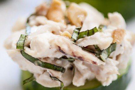 Paleo Basil Cashew Chicken Salad