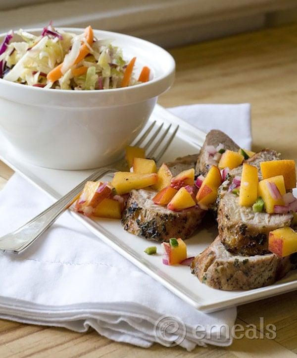 Paleo Pork with Peach Salsa eMeals
