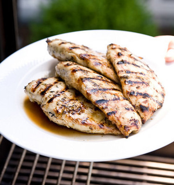 Perfectly Grilled Chicken Breasts with Garlic, Lemon, & Herbs