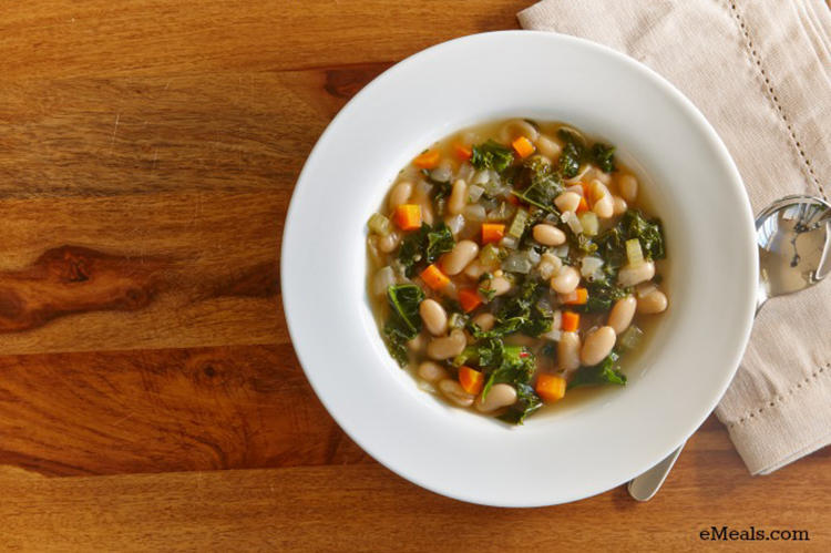 This white bean kale soup is full of deep flavor but still clocks in at less than 200 calories per serving.