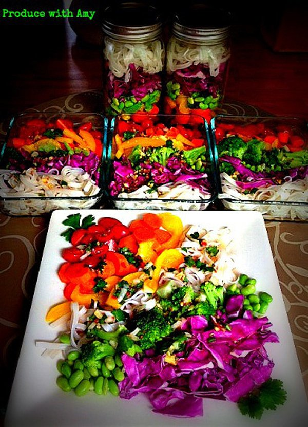 Spectrum Salad with Chili Lime Dressing