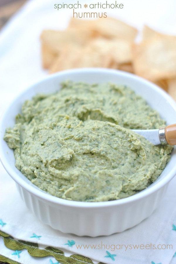 Spinach and Artichoke Hummus