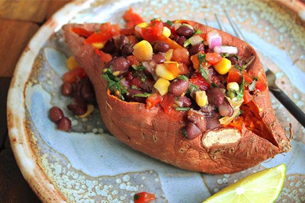 Stuffed Sweet Potatoes Southwestern Style