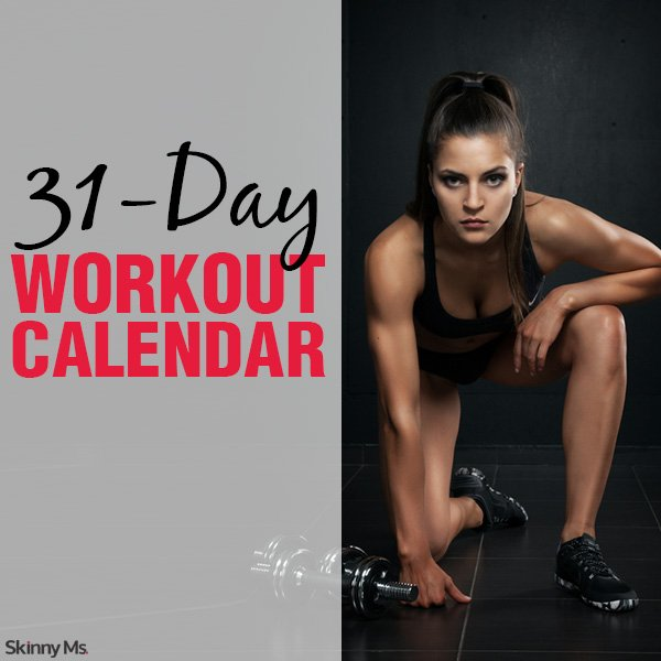 31 Day Workout Calendar Square