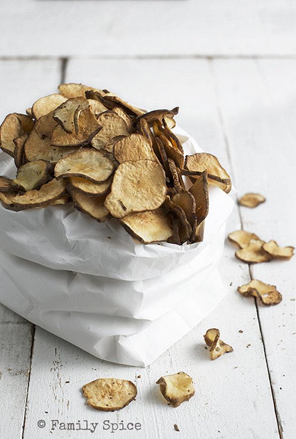 Baked Jerusalem Artichoke Chips