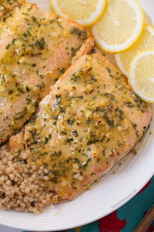 Baked Salmon with Honey Dijon Garlic
