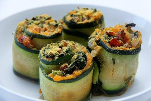 Baked Zucchini Rolls