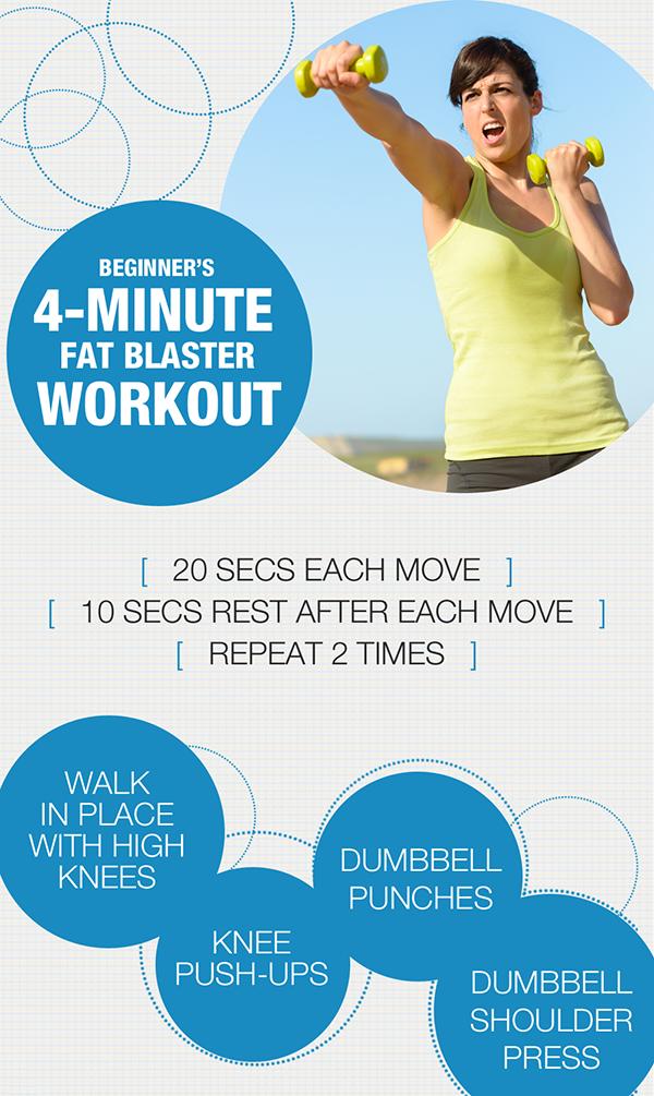 Beginner's 4 Minute Fat Blaster Workout