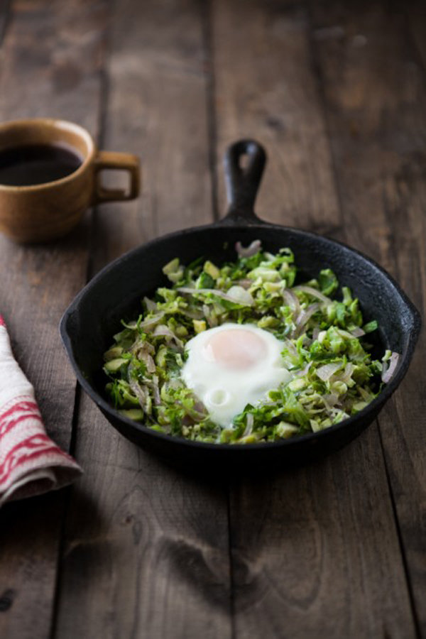 Brussel Sprouts and Egg Skillet