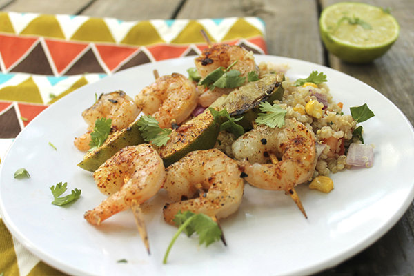 Chili-Lime Grilled Shrimp with Quinoa Pilaf