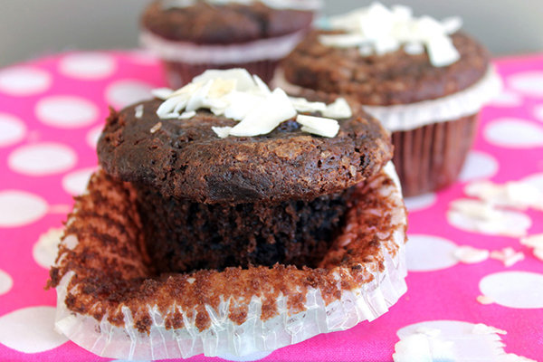 Clean Eating Chocolate Coconut Muffins