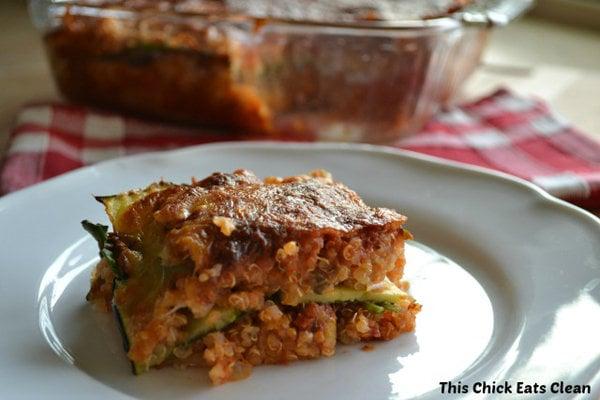 Clean No-Noodle Quinoa Lasagna