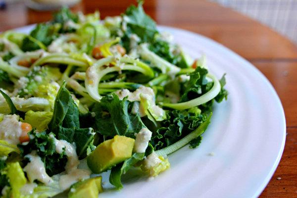 Green-Queen Power Caesar Salad