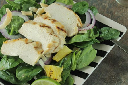 Grilled Chicken and Pineapple Salad