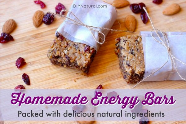 Homemade Energy Bars With Natural Ingredients