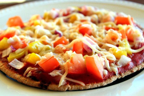 Homemade Whole Wheat Pita Pizza