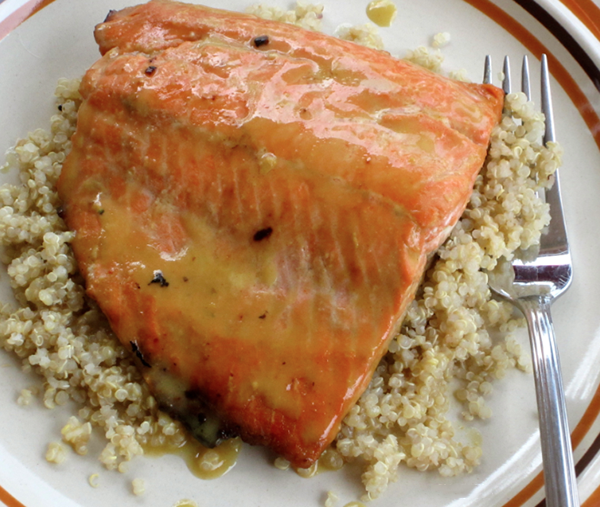 Honey-Dijon Glazed Salmon with a Hint of Lemon