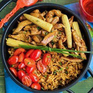 Easy One-Pot Chicken & Rice Dinner
