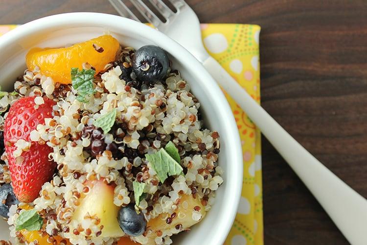 Quinoa Fruit Salad with Honey Lime Vinaigrette