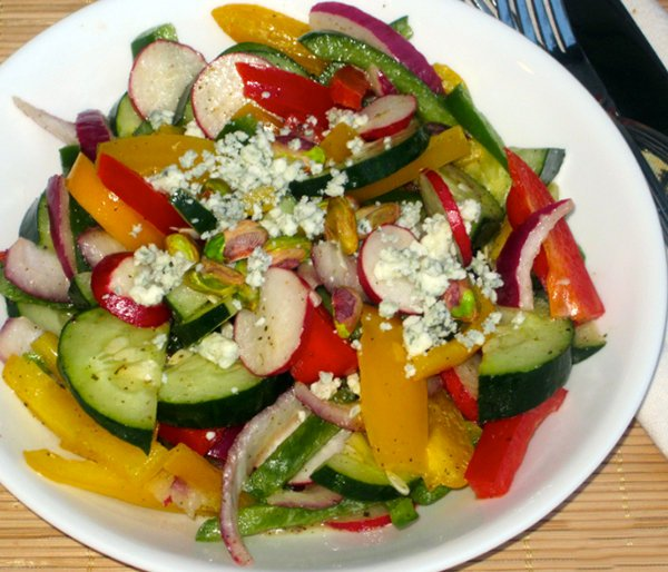 Rainbow Salad with Honey-Lemon Dressing