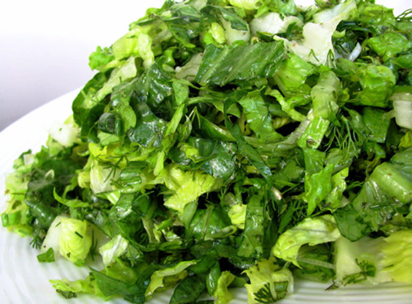 Romaine Salad with Mint and Dill