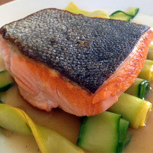 Salmon in Cardamom Sauce