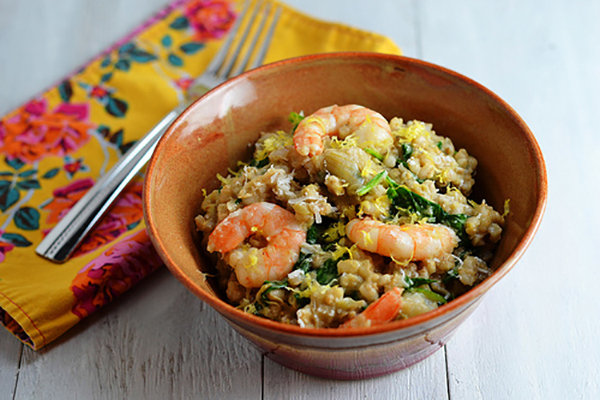 Shrimp and Barley Risotto