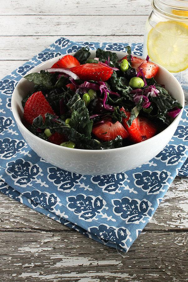 Strawberry Spring Kale Salad