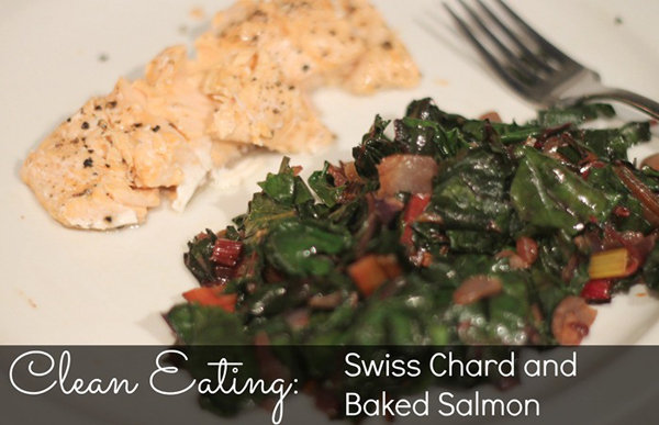 Swiss Chard and Baked Salmon