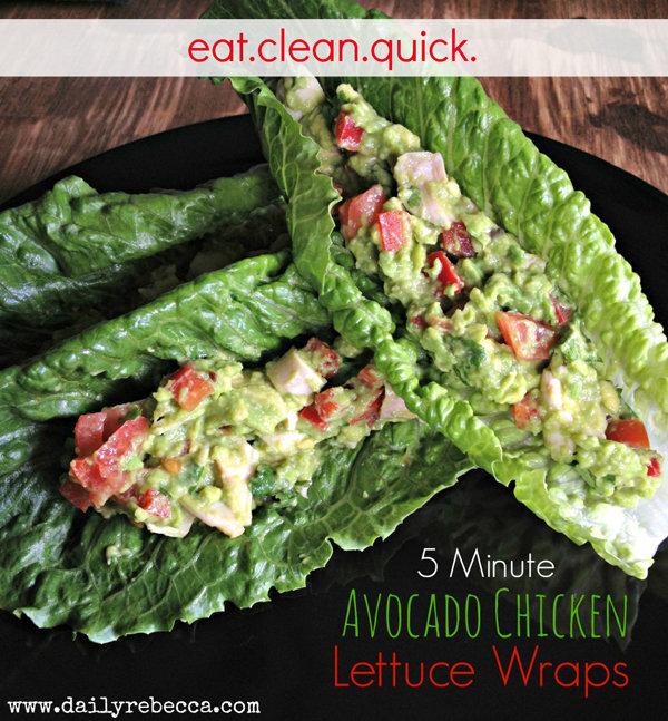 5-Minute Avocado Chicken Wrap