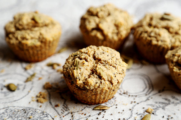Chia and Pumpkin Seed Breakfast Muffins