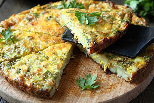 Crustless Asparagus Quiche