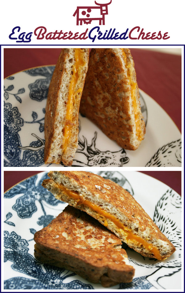 Egg Battered Grilled Cheese