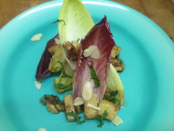 Endive Salad With Apples, almonds and Walnuts2