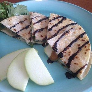 Feta, Apple, and Arugula Quesadillas