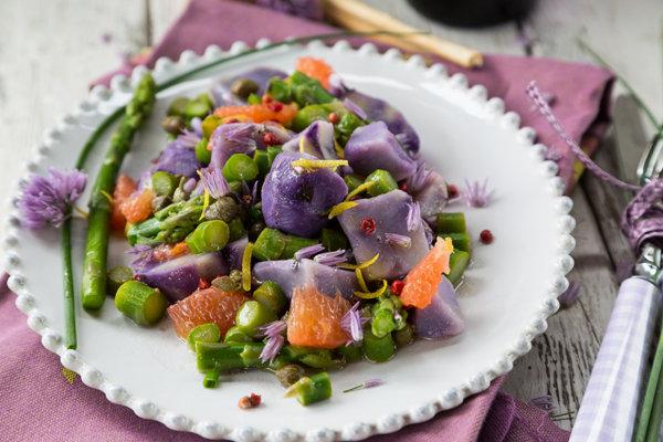 Potatoes, Grapefruit and Asparagus Salad