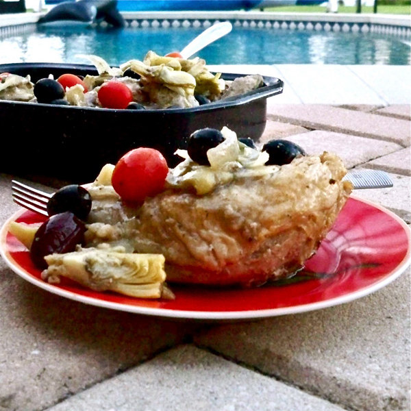 Slow Cooker Chicken with Artichoke and Olives