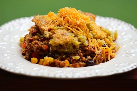 Slow Cooker Tamale Pie with Cornbread Crust