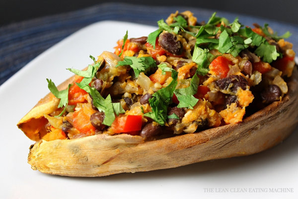 Southwestern Baked Sweet Potatoes