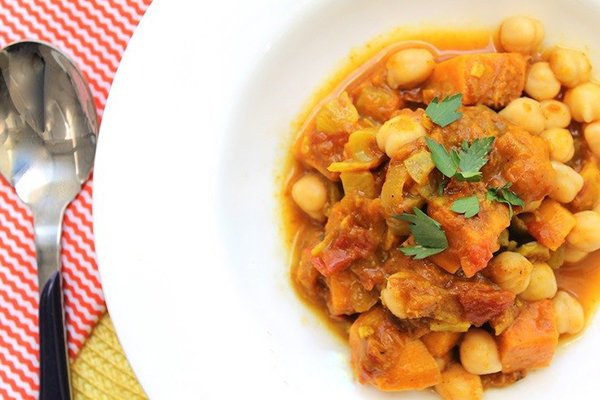 Spicy Potato and Chickpea Stew