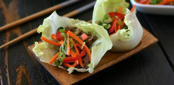 Thai Beef with Basil Lettuce Wrap