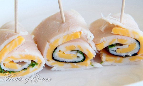 Turkey and Cheese Roll Ups
