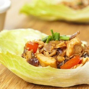 Homemade Asian Chicken Lettuce Wraps
