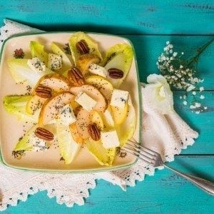 Endive & Apple Salad with Vinaigrette Dressing