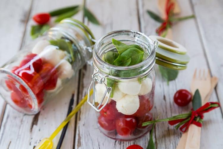 Caprese Salad In A Jar | Healthy Salad In A Jar Recipes | cobb salad in a jar